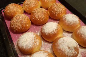 Soft milk burger buns